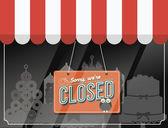 Shopfront fechado — Vetor de Stock