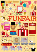 Fun fair — Stock Vector