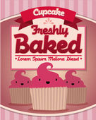 Vintage cupcakes poster — Stock Vector