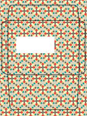 Floral envelope design template — Stock Vector