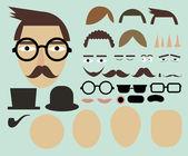 шаблон выражение лица — Cтоковый вектор