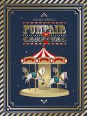 Vintage carnival — Stock Vector
