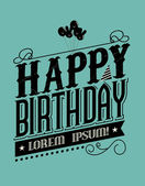 Birthday typography — Stock Vector