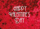 Heart glitter valentine's day greeting template — Vector de stock