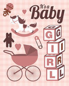 It's a baby girl template — Stockvektor
