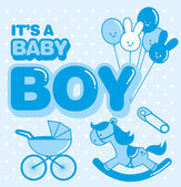Baby boy template — Stockvector