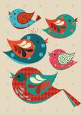 Сolorful birds — Stock Vector