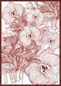 Sömlös blomma bakgrund — Stockvektor