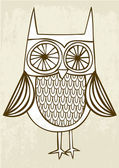 Drawing owl — Vettoriale Stock
