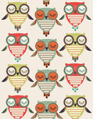Seamless owls — Vettoriale Stock