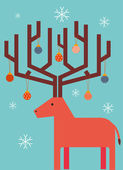 Reindeer with christmas ornament — Stock Vector