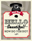 Retro telephone poster — Stockvector