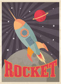 Vintage rocket template — Stock Vector
