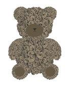Teddy bear — Cтоковый вектор