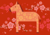Chinese lunar new year of the horse — Stock Vector