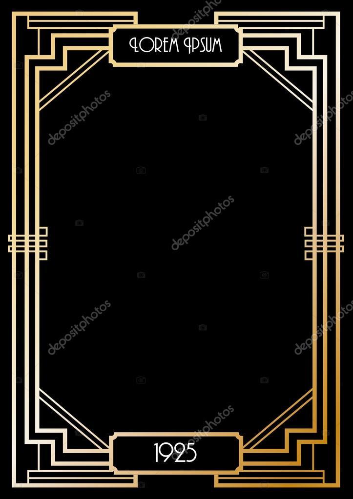 art deco border template stock vector nglyeyee 44894281. Black Bedroom Furniture Sets. Home Design Ideas