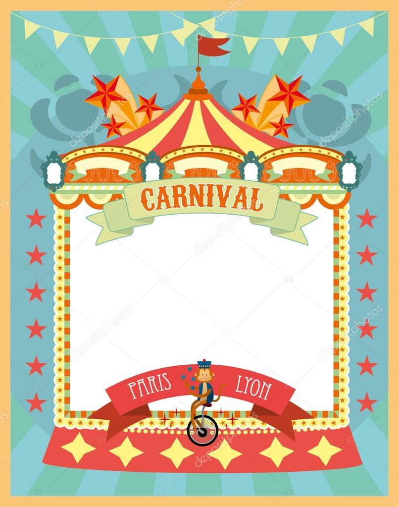 Fun fair template — Stock Vector © nglyeyee #44895045