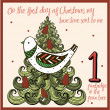 The 12 days of christmas — Stock Vector