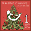 The 12 days of christmas — Stock Vector #45227655