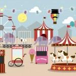 Fun fair park — Stock Vector #45228181