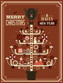 Christmas tree template — Stock Vector