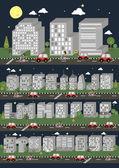 Skyscraper font — Stock Vector