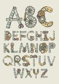 Mechanical font — ストックベクタ
