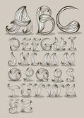 Vine alphabet — Stock Vector