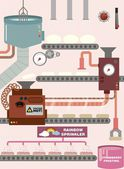Donut factory — Stock Vector