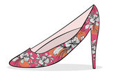 Flower shoe — Wektor stockowy