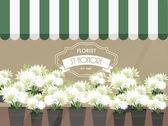 Florist shop — Stock Vector