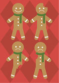 Gingerbread man — Stockvektor