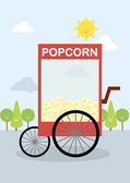 Popcorn pushcart — Stock Vector