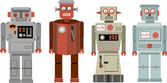 Vintage robot — Stok Vektör