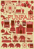 Seamless fun fair — Stock Vector