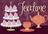 Teatime — Stock Vector