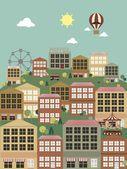 Townhouses — Stock Vector