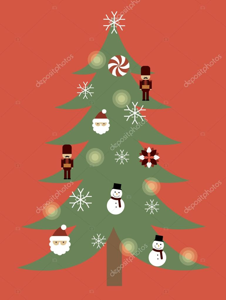 vintage christmas tree poster template stock vector copy nglyeyee vintage christmas tree poster template stock vector 45227393