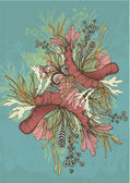 Intricate flower motif — Stock Vector