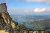 Schafberg near with Wolfgangsee — Stock Photo
