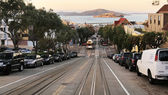 Hyde street in San Francisco, CA — Stock Photo