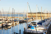 Boats in port of San Francisco — Stock Photo