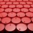 Large group of red  barrels. — Stock Photo #47977265