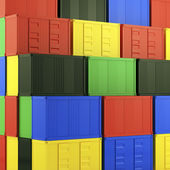 Lot's of cargo freight containers — Foto de Stock