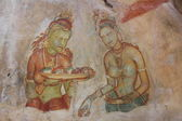 Rock paintings. Sigiriya, Sri Lanka. — Stockfoto