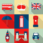 London vintage icons vectors — Stock Vector