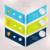 Disegni geometrici — Vettoriale Stock