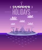 Vintage summer vacation — Stock Vector