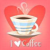 Uwielbiam kawę — Wektor stockowy