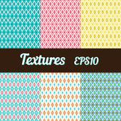 Set of rhombus textures — Stockvektor